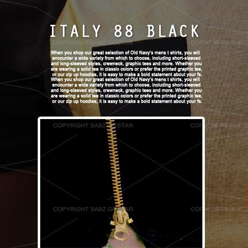 تیشرت مشکی مردانه ایتالیا ITALY Black 88