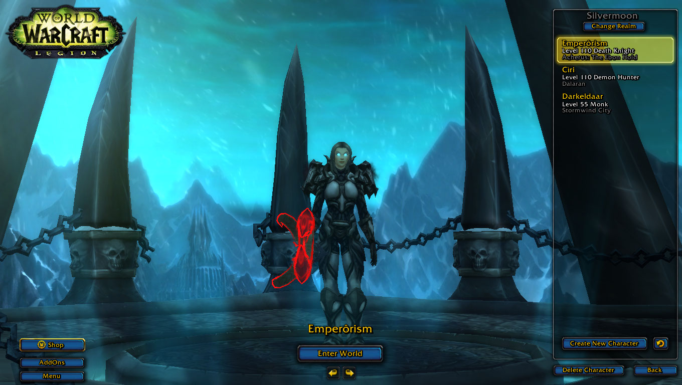 فروش اکانت - کاربر emperorism - کلاس Death Knight + Demon Hunter - سرور Battle.net