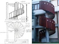 طراحی پله در معماری ساختمان درس عناصر و جزییات