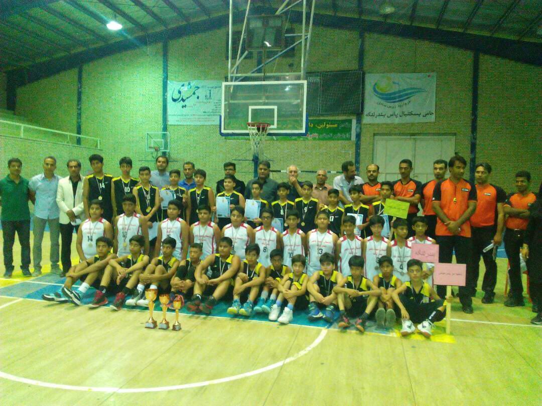 کسب مقام دوم توسط دانش آموزان بندرلنگه در مسابقات بسکتبال مدارس ابتدایی هرمزگان