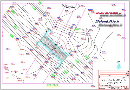 نقشه اتوکد ابروی زیرخاکی با دهنه 4 متری