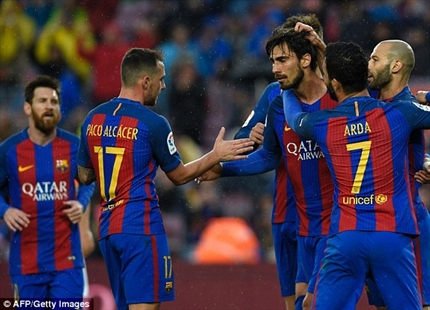 نتیجه بازی بارسلونا و اسپانیول 9 اردیبهشت 96 | فیلم خلاصه و گلها