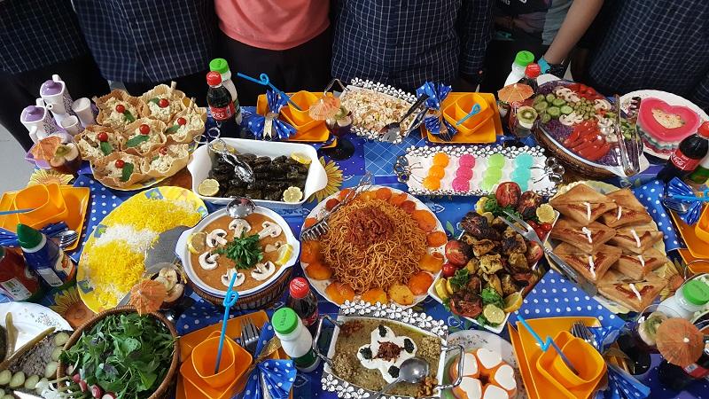 گزارش تصویری از جشنواره غذا کلاس 7/3