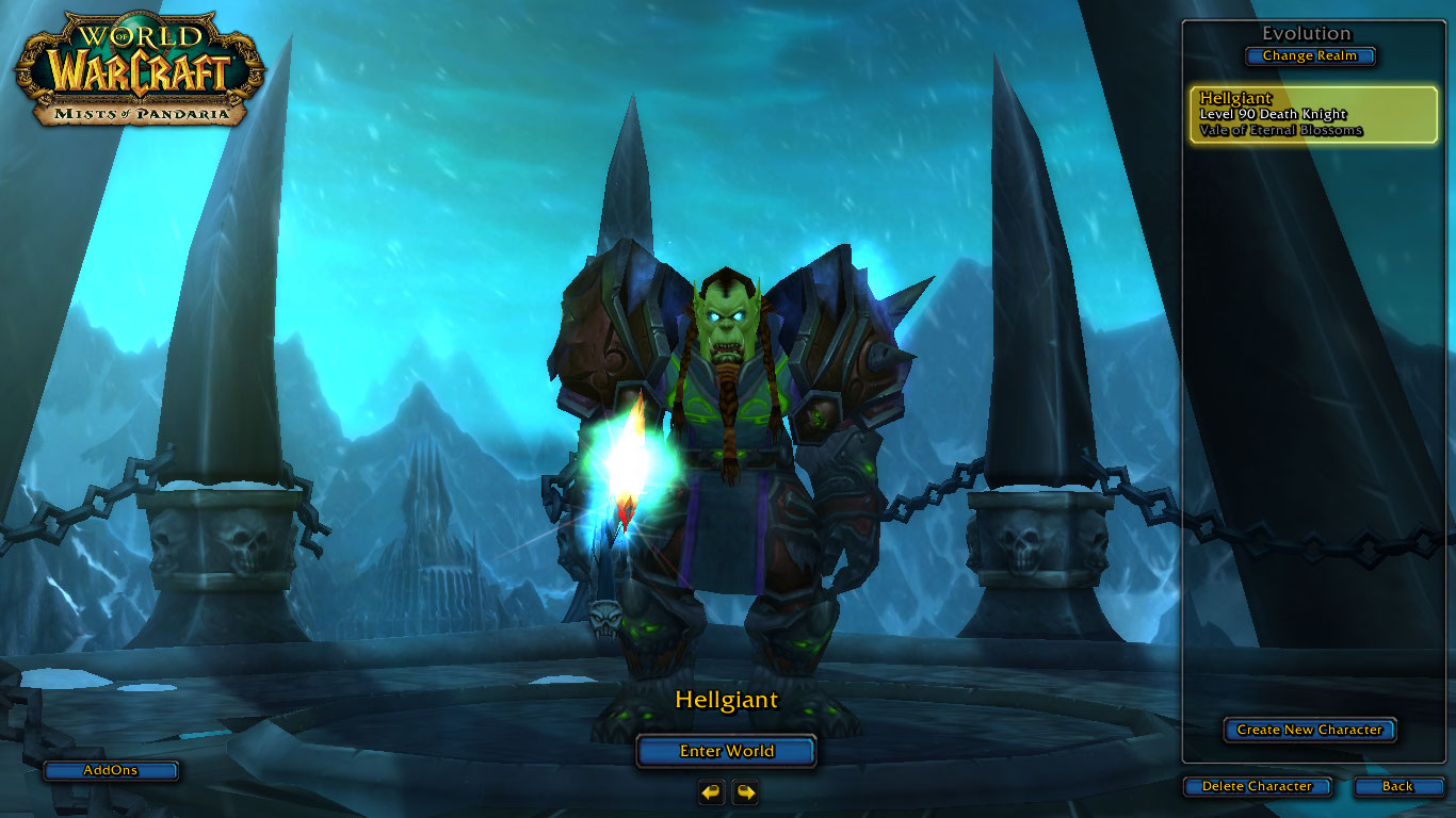 فروش هیرو Death Knight - Hellgiant - سرور WowZone
