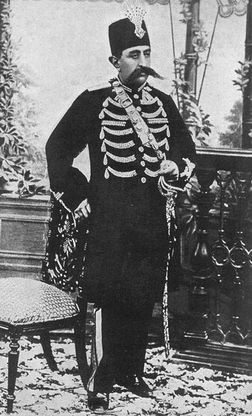 مظفرالدین شاه قاجار در حدود سال 1902 میلادی