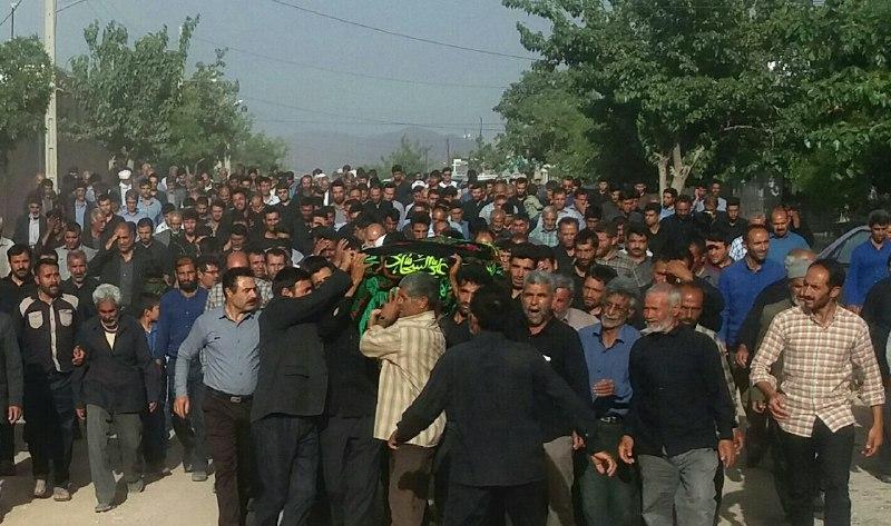مراسم تشییع وتدفین شادروان نظری باحضور گسترده همشهریان درآبیزبرگزارشد