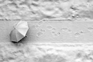 در این کویر برف