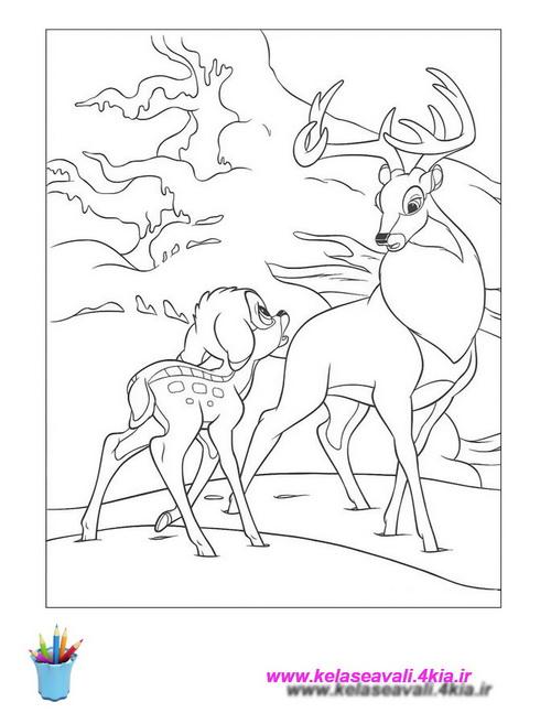 کتاب نقاشی بامبی
