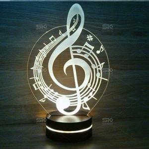 چراغ خواب سه بعدی طرح نت موسیقی