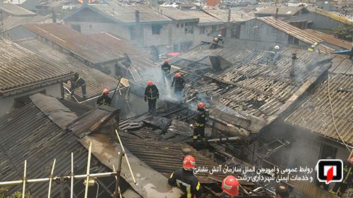 کودک ۴ ساله رشتی خانه را به آتش کشید  جزئیات نجات پدر ناتوان جسمی به همراه فرزندش از شعلههای آتش کوچههای تنگ جماران/تصاویر