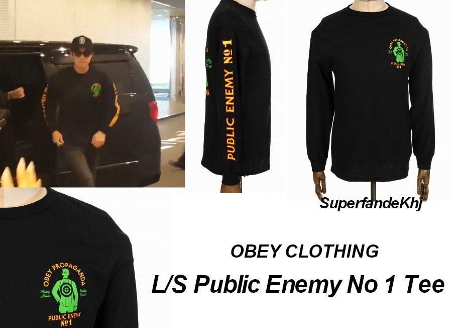 [Sponsor] Kim Hyun Joong Obey Clothing ~ Public Enemy No 1 Tee [2017.06.27]
