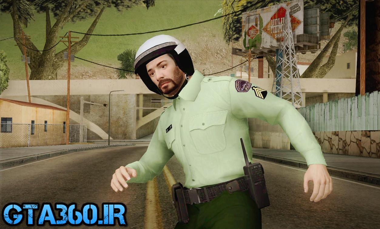 اسکین پلیس موتور سوار ایرانی برای gta sa