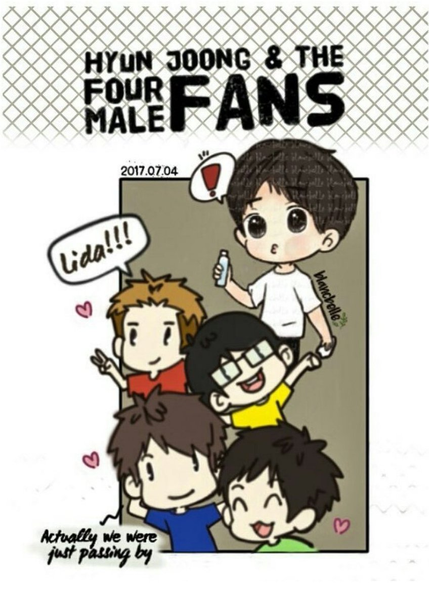 [blancbelle Fanart] Kim Hyun Joong and The Four Fans Male [2017.07.04]