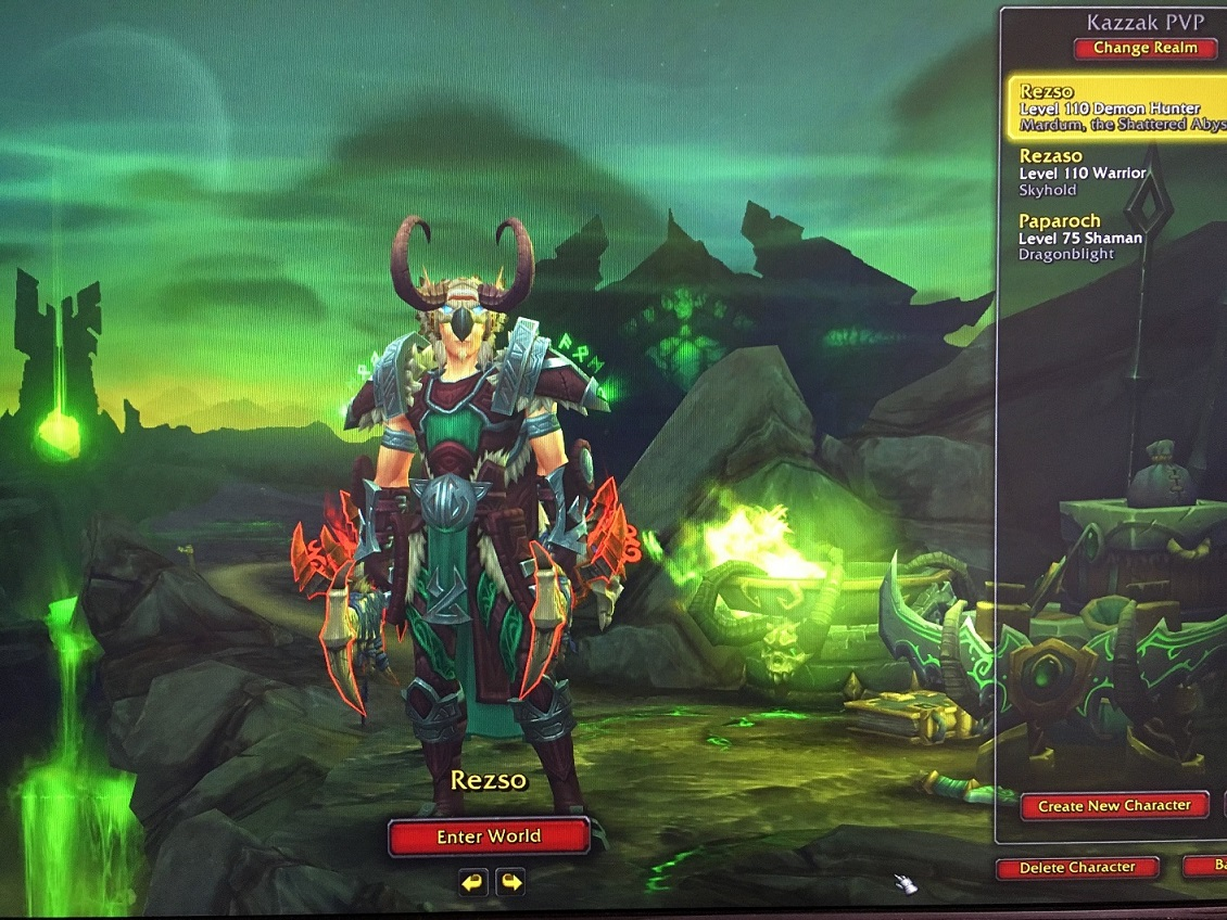 فروش اکانت - Demon Hunter + Warrior + Shaman - سرور Battle.net