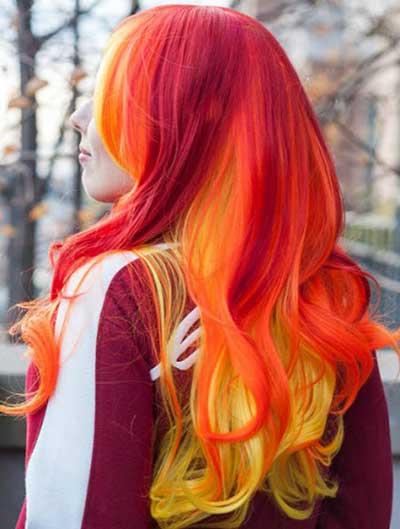 رنگ موي آتشي جالب