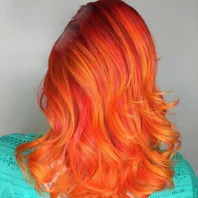 رنگ موي زيبا