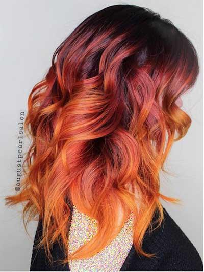رنگ موي آتشي