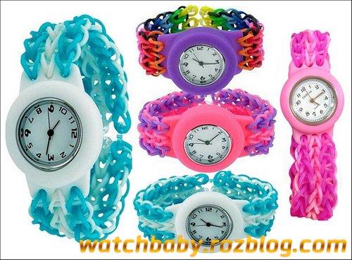 مدل های رنگی ساعت مچی دخترانه طرح فانی بافت