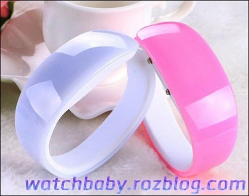 خرید ساعت مچی دخترانه رنگ شاد دستبندی LED بریسا