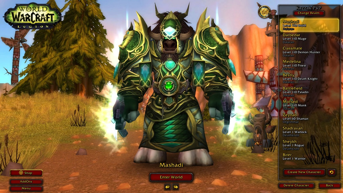 فروش اکانت - Battle.net - Druid+Mage+DemonHunter+ Priest+Pala+Dk+Monk