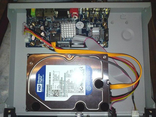 نصب تصویری هارد روی دستگاه DVR