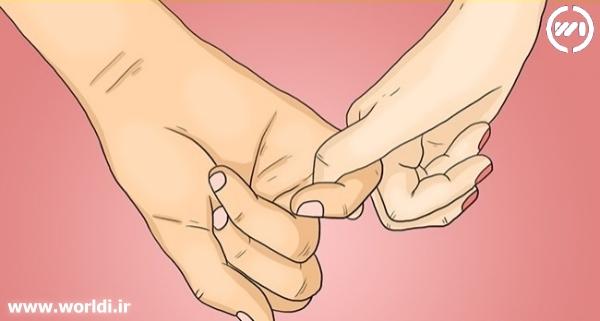 قفل کردن یک انگشت در هم