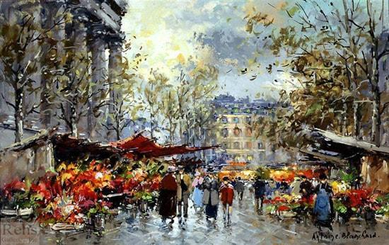 نقاشی های Antoine Blanchard