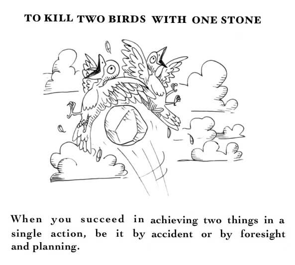 با یک تیر دو نشان زدن – Kill two birds with one stone – ضرب المثل های انگلیسی – English Proverb