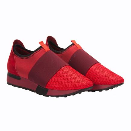 کفش ورزشی زنانه قرمز اسپورت ورزشی AYAKKABI HAVUZ