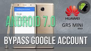 اموزش حذف گوگل اکانت Huawei GR5 Mini (NMO-L31) اندروید7