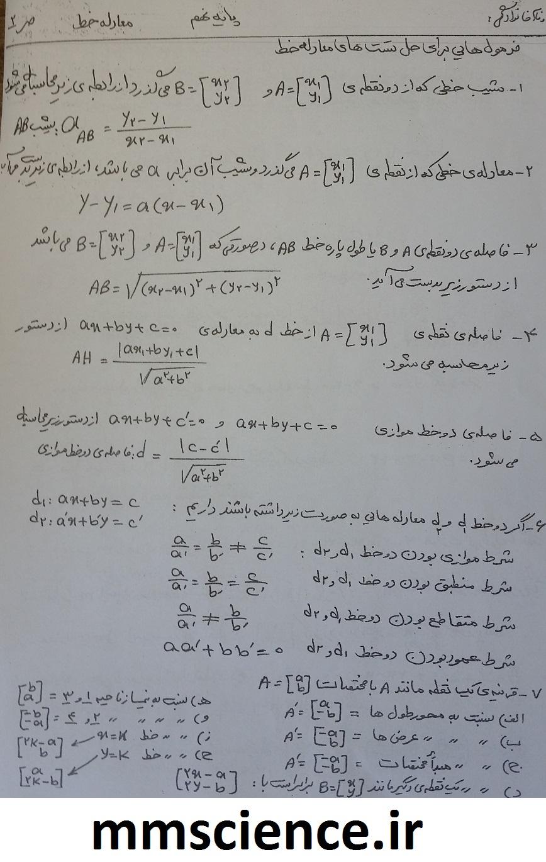 جزوه تیزهوشان ریاضی نهم