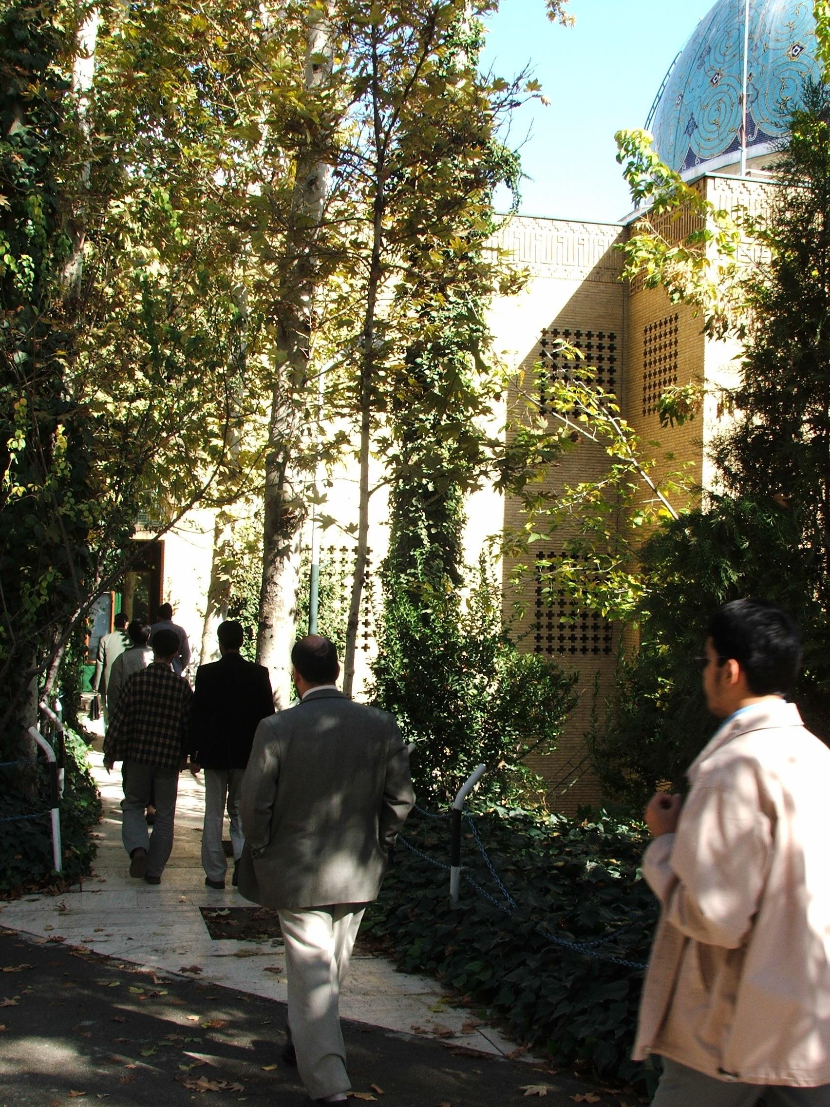 درختهای کنار مسجد
