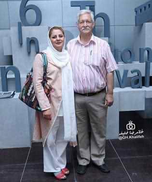 آتش تقي پور و همسرش + عکس