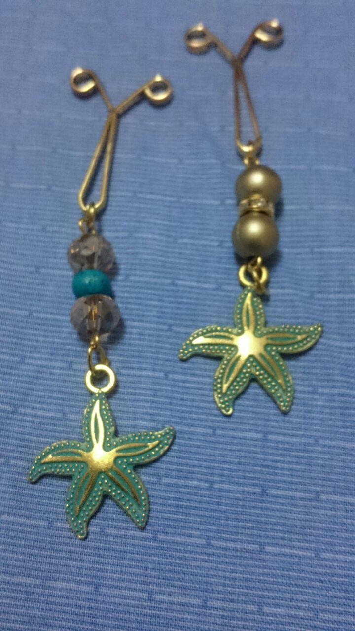 گیره روسری طرح ستاره دریایی