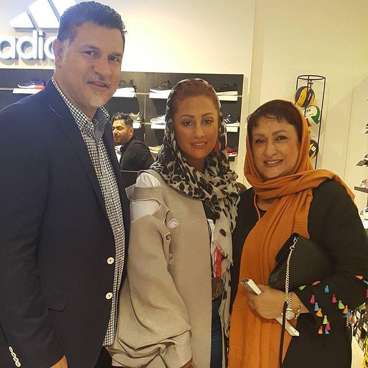 عکس جدید علی دایی با همسرش و مریم امیرجلالی