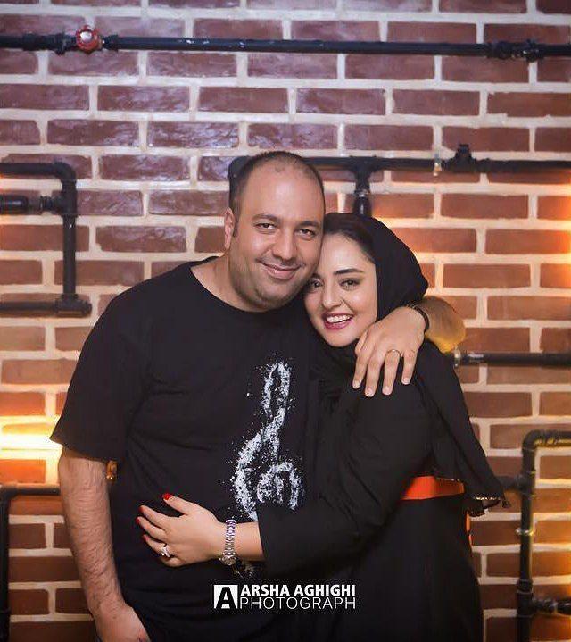 عکس نرگس محمدی و همسرش علی اوجی در آغوش هم