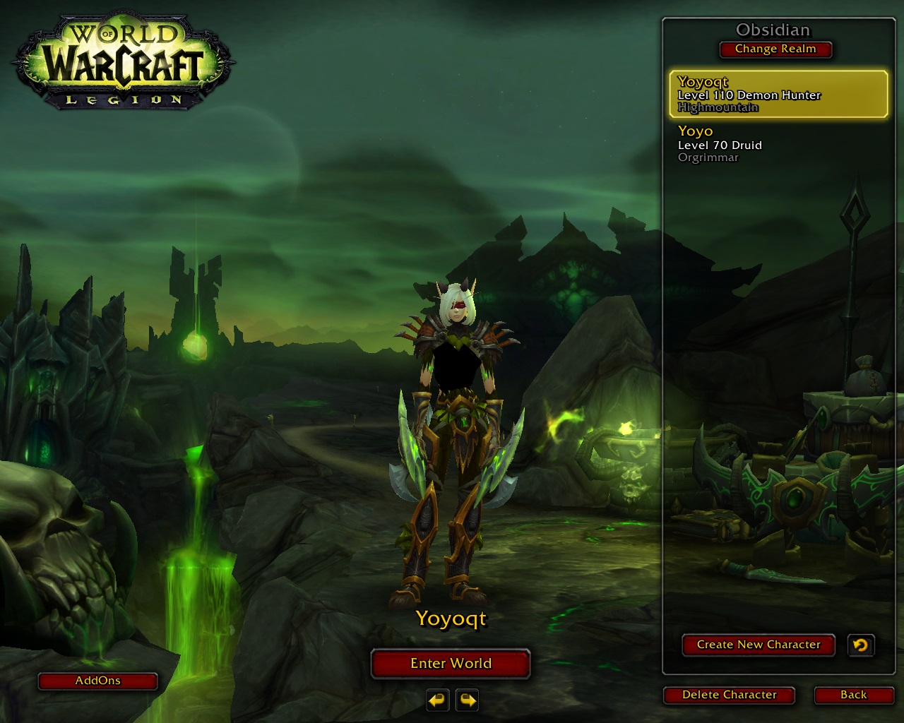 فروش هیرو DemonHunter - yoyoqt - سرور WowZone