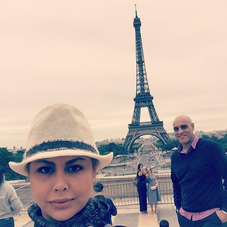 عکس یاسمینا باهر و همسرش امیریل ارجمند در فرانسه