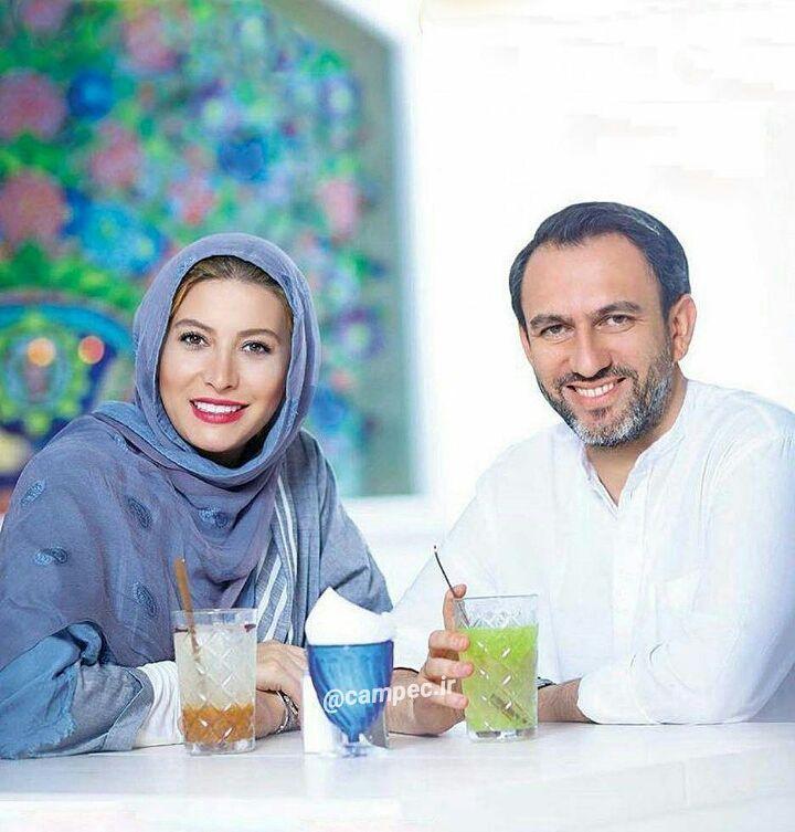 عکس جدید فریبا نادری با همسرش مهرداد طباطبایی