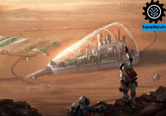 کلونی فضایی در مریخ