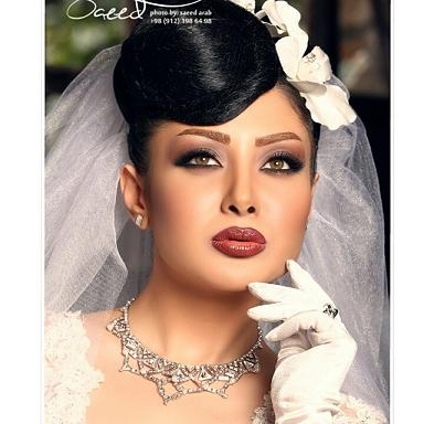 آرايش گونه عروس،آرايش لب عروس،آرايش عروس