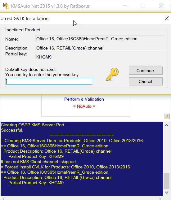 Office 16 key khgm9   Unable to remove KHGM9 Key  2019-04-07