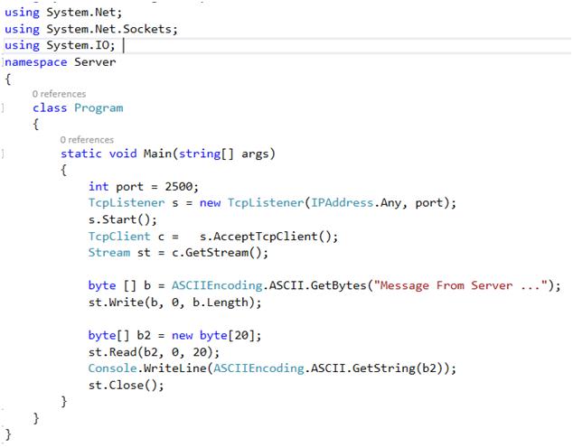 کدنویسان - نمونه برنامه سمت سرور
