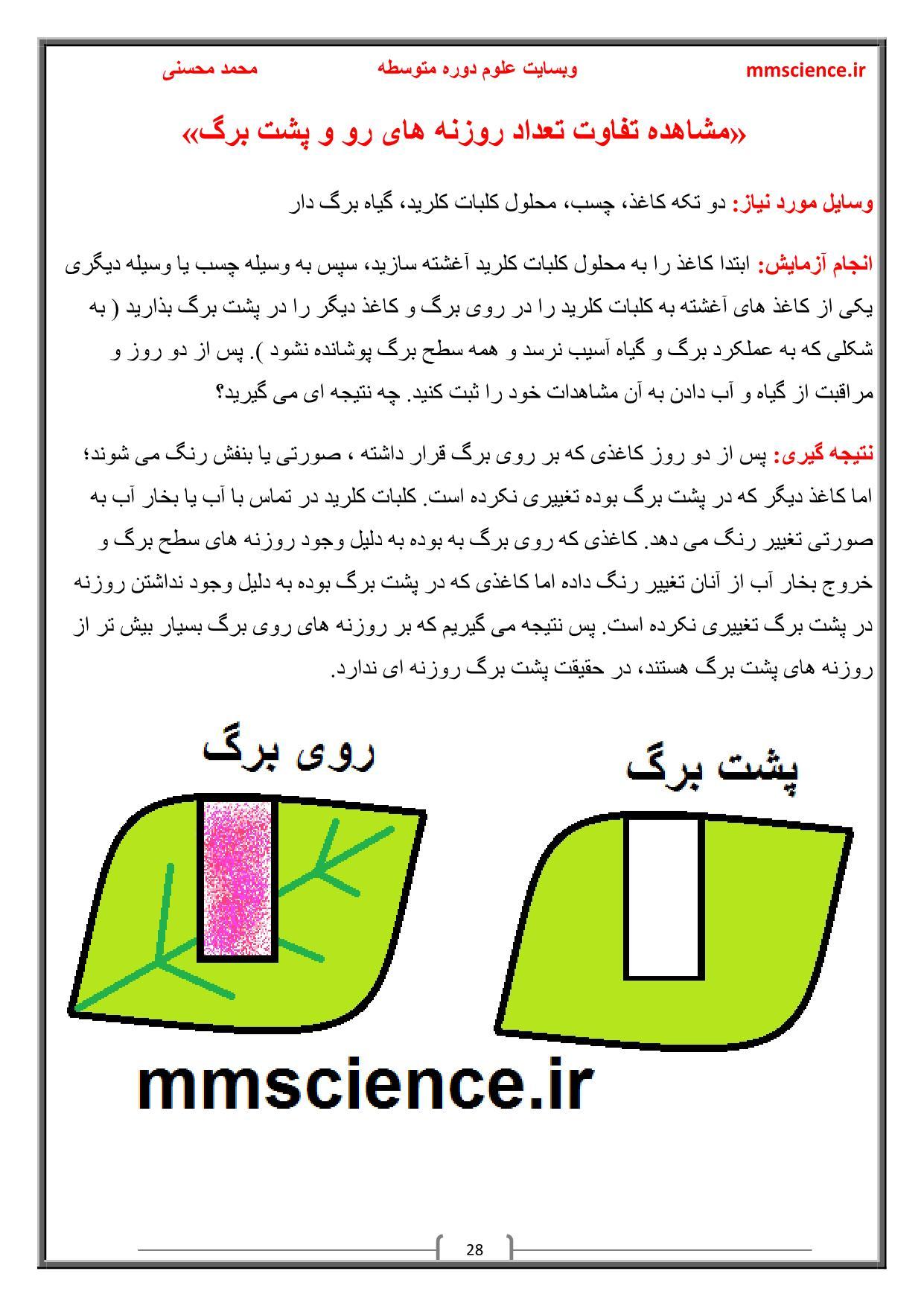 آزمایش کنید علوم نهم