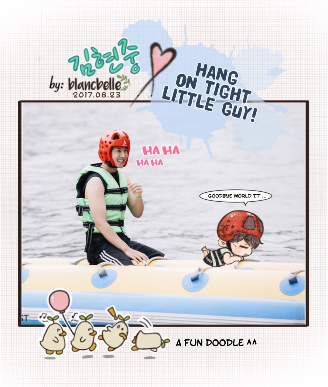 [blancbelle Fanart] Kim Hyun Joong hang on tight little guy [2017.08.23]