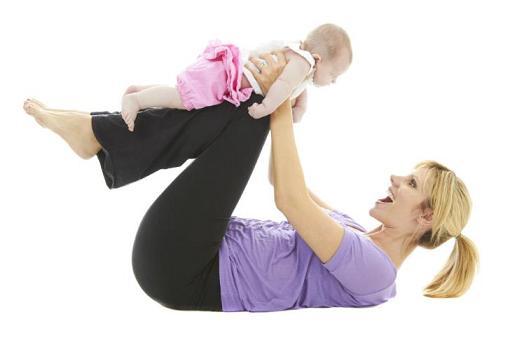 همراه با نوزادتان ورزش کنيد