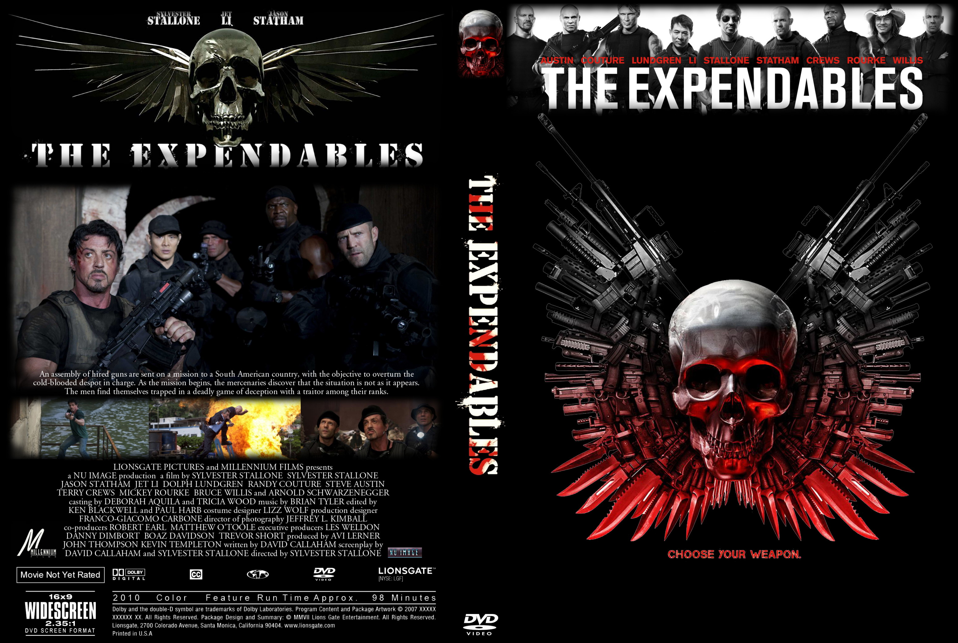 کاور فیلم The Expendables