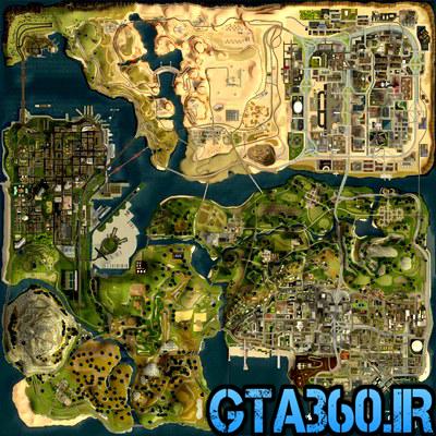 مپ 3d برای gta san