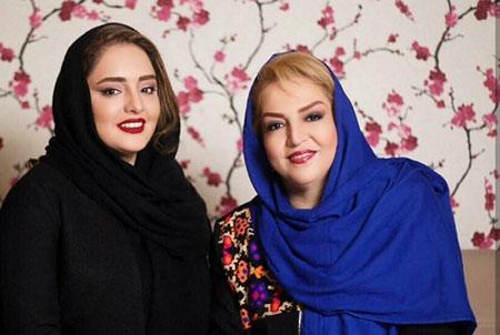 عکس جديد از نرگس محمدي با مادر