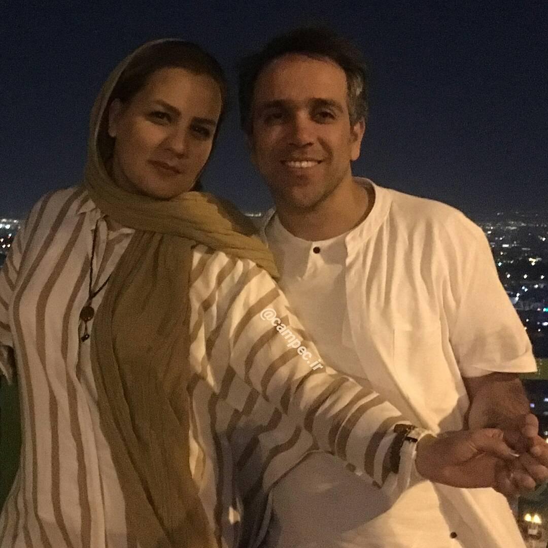 عکس امیر کربلایی زاده با همسرش
